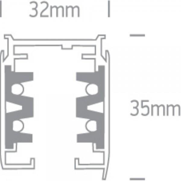 Sina spoturi LED 4 Linii Alba Neagra sau Gri 3M sina M2