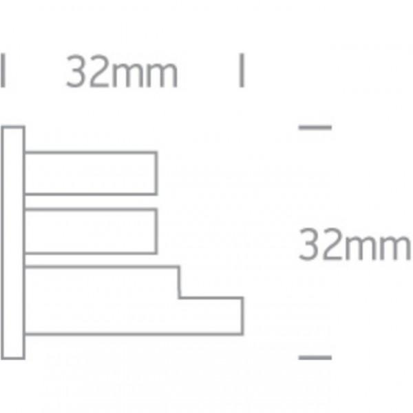 Capac final sina 4 linii tip M2