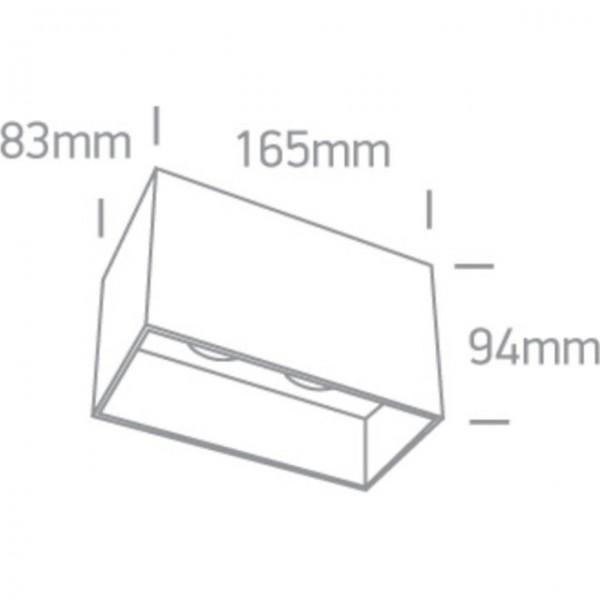 Spot aplicat pe tavan 2xGU10 Negru sau Alb
