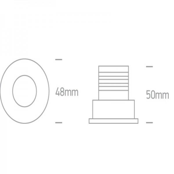Mini Spot LED 3W Alb sau Negru interior culoare Alama