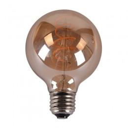 Bec LED Vintage Dimabil 5W E27 D150 2800-3200K Sticla Fumurie