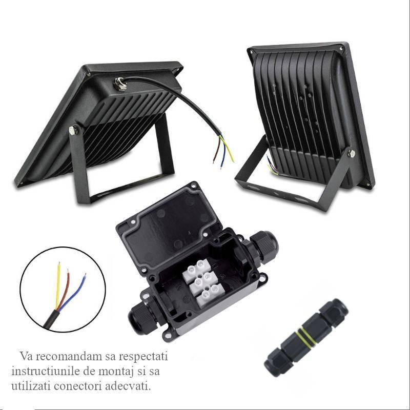 Proiector LED 10W Helios Alb Rece
