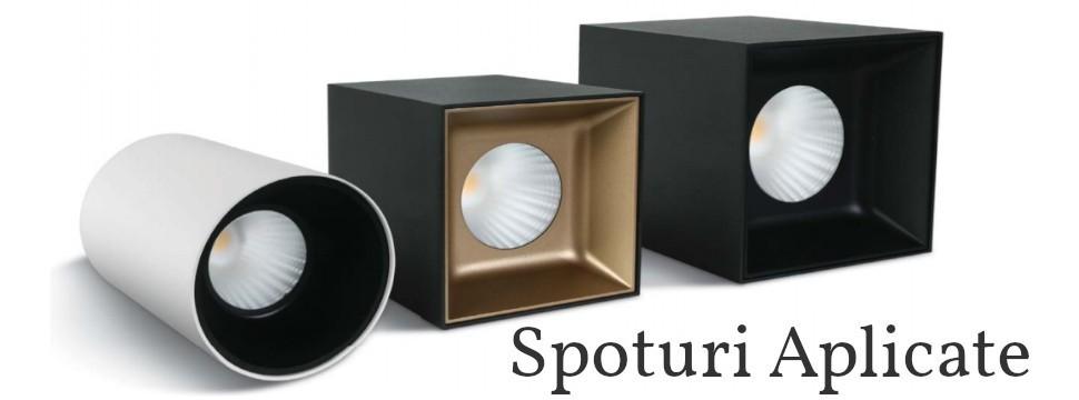 Spoturi LED Aplicate pe tavan Orientabile si Dimmabile