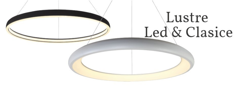 Lustre Moderne LED pentru living dormitor si bucatarie